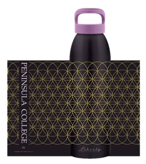 Image For Liberty Waterbottle Flower of Life PC imprint