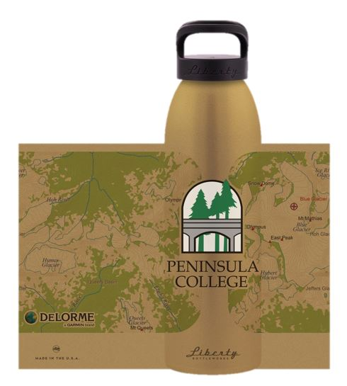 Image For Liberty Waterbottle Gold PC Imprint