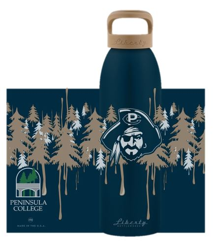 Image For Liberty Waterbottle Night Drip Pirate Head imprint