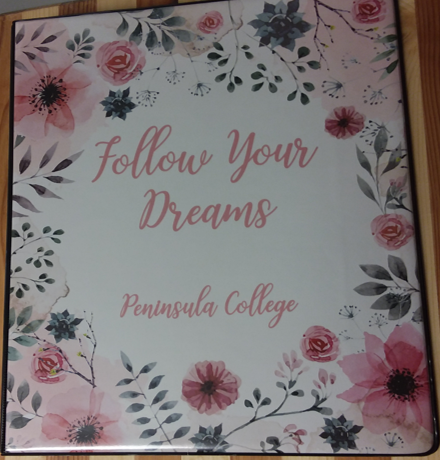 Cover Image For Binder Peninsula College Floral Script